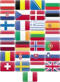 Flagi Państw do których doręczamy przesyłki międzynarodowe