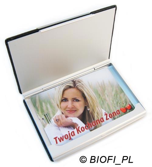 Karta Pendrive GROZER - Opakowanie GB-10 Eco Leather RFID Holder Prezent na Urodziny