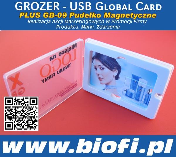 Karta USB Pendrive GROZER - Realizacji Akcji Marketingowych w Promocji Firmy Marki / Produktu / Zdarzenia