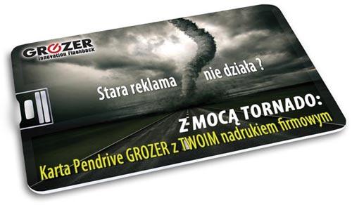 Pendrive Karta GROZER - Skuteczna Reklama