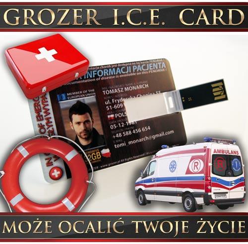 Pendrive Karta - Karta ICE Ratująca Życie