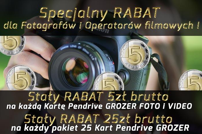 Specjalny STAŁY - RABAT dla Zawodowych Fotografów i Operatorów Filmowych
