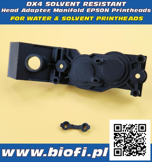 Dx4 Solvent Resistant Head Adapter Manifold Epson Base