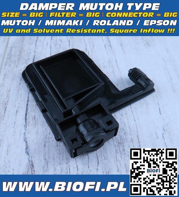 Damper do drukarek MUTOH ValueJet, Roland, Mimaki - Odporny na Solvent / Solvent Resistant