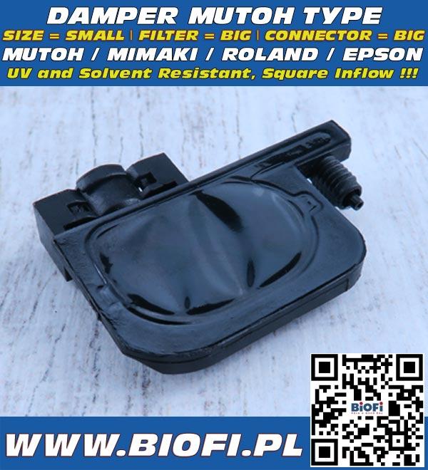 Damper do drukarek MUTOH ValueJet, Roland, Mimaki, EPSON - Odporny na Solvent / Solvent Resistant