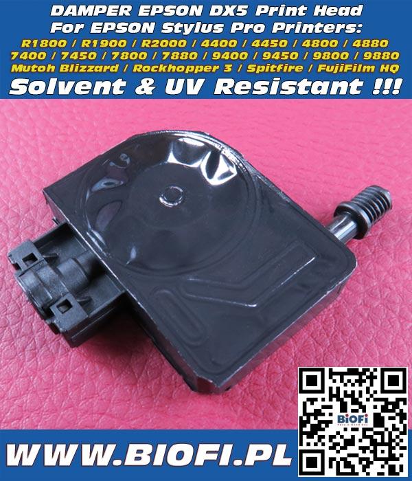 DX5 Damper for EPSON Printers 7400 /9400 / 7800 / 9800 / 7880 / 9880/ 4880 / 4800 Odporna na Solvent i Światło UV - Solvent and UV Resistant