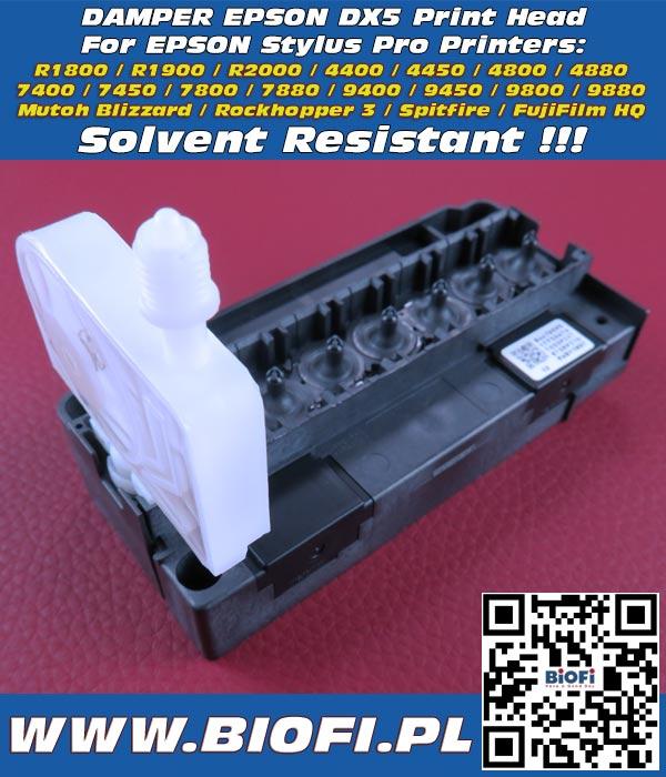 DX5 Damper for EPSON Printers 7400 /9400 / 7800 / 9800 / 7880 / 9880/ 4880 / 4800 Odporna na Solvent Solvent Resistant