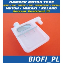 Damper MUTOH TYPE - SIZE = BIG, FILTER = BIG, CONNECTOR = SMALL, Solvent Resistant