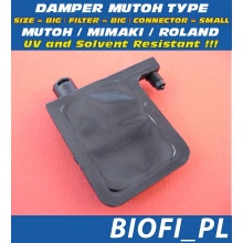 Damper MUTOH TYPE - SIZE = BIG, FILTER = BIG, CONNECTOR = SMALL, UV + Solvent Resistant