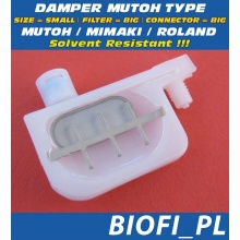 Damper MUTOH TYPE - SIZE = SMALL, FILTER = BIG, CONNECTOR = BIG, Solvent Resistant