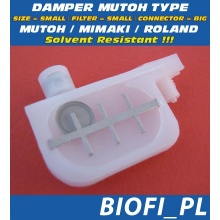 Damper MUTOH TYPE - SIZE = SMALL, FILTER = SMALL, CONNECTOR = BIG, Solvent Resistant
