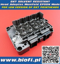 DX7 Solvent Resistant Head Adapter, Manifold EPSON Base