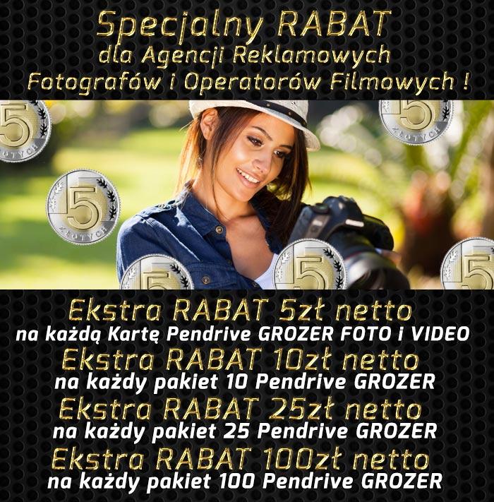 Specjalny STAŁY - RABAT dla Zawodowych Fotografów, Operatorów Filmowych i Agencji Reklamowych