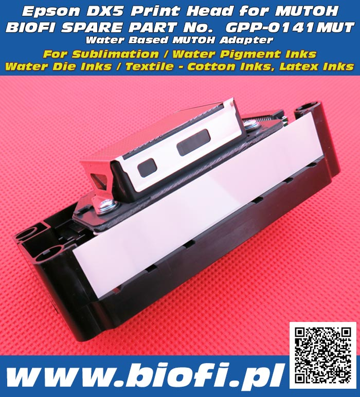 EPSON DX5 Print Head for MUTOH pRINTERS, GPP-0141MUT WATER BASED