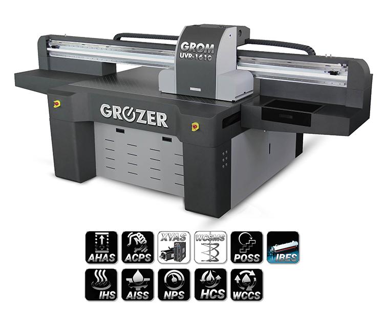 Maszyna Drukująca Flatbed GROZER GROM UVR-1610